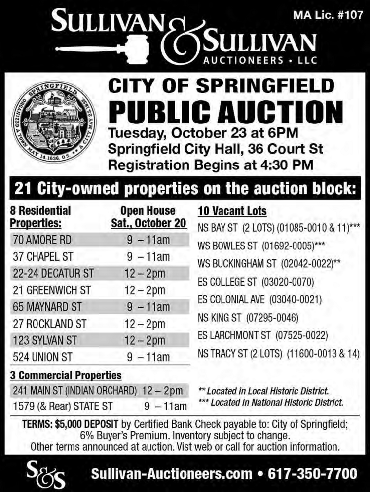 city of springfield collectors office real estate auctions